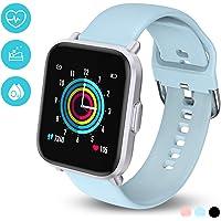 HolyHigh Smartwatch Fitness Tracker con Touchscreen a Colori Orologio Fitness con Monitor di Battito Cardiaco & Sonno Cronometro Contapassi Impermeabilità IP68 Autonomia di 10 Giorni, per Uomo Donna
