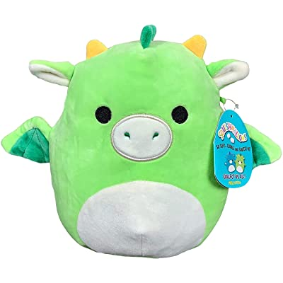 "Squishmallow Kellytoy 16"" Plush Toy (16"" Dexter The Green Dragon): Toys & Games"