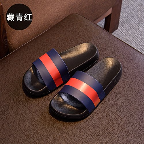 pantofole pantofole di moda indoor cantieri dimensioni bagno e anti grandi scuro42 campo slittamento uomini maschio di cool e Blu pantofole DogHaccd trend Estate di outdoor estate qxYvaw1nZt