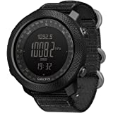 CakCity Men's Digital Watch, Outdoor Sports Military Watches for Men with Compass Temperature, Steps Tracker, Large Dial