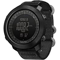 Men's Military Watch Outdoor Sports Digital Watches for Men with Compass Temperature, Steps Tracker, Large Dial, Model: Apache