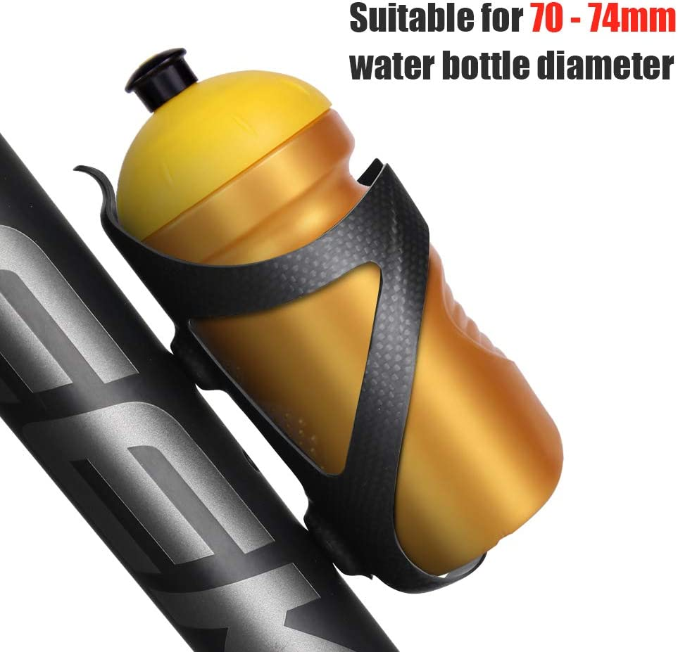 Blusea Super Light 3K UD Cycling - Portabidón de fibra de carbono para bicicleta, Glossy