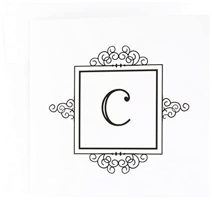 Amazon letter c black and white typography elegant stylish letter c black and white typography elegant stylish greeting cards 6 x 6 m4hsunfo