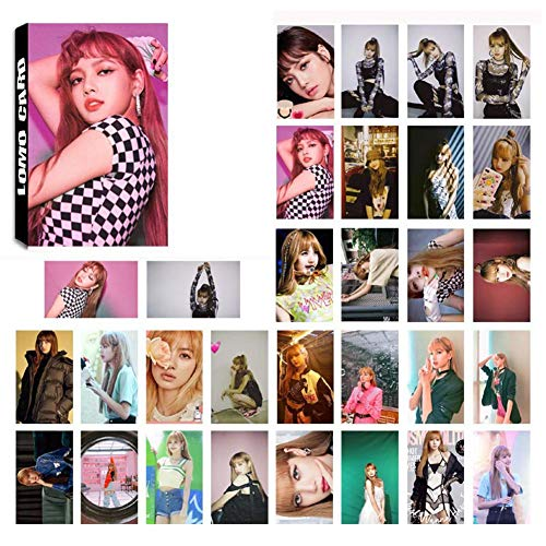 Youyouchard Kpop Blackpink Album Square UP Photo Postcard Lomo Card Cards Stickers Set Photo Card Poster HD Photocard, Gift for Fans(H07: 30PCS)