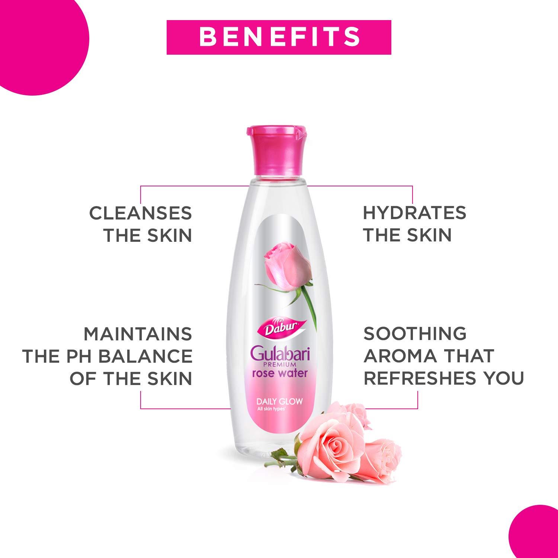 Dabur Gulabari Premium Rose Water – Natural, 12 ml