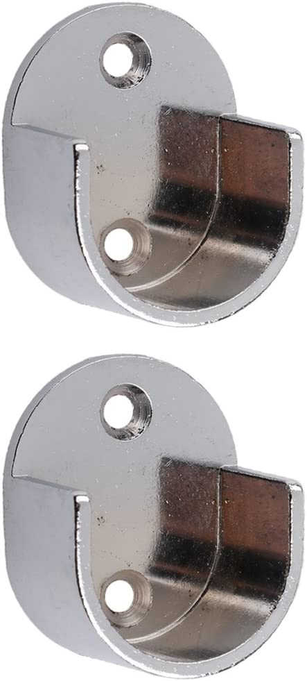Sharplace Curtain Pole Recess Wall Bracket Curtain Rods Finials Window Treatment Hardware - #25mm
