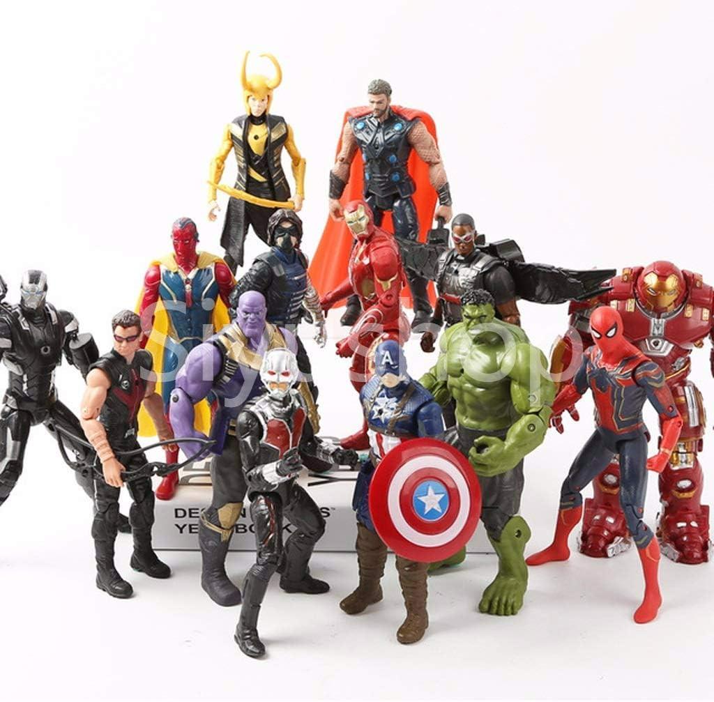 30cm The Avengers Superheld Spiderman Iron Man Thor Action Figuren Spielzeug Neu