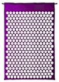 Deluxe Comfort Acupuncture Mat with Carrying Bag - Natural Endorphin Energy Booster - Holistic Therapy - Great Stress Reliever - Mat, Purple