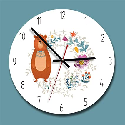 SHFISIKI Clock Acrylic Creative Wall Clock Modern Design Kids Bedroom Silent Quartz Reloj De Pared Decorativo
