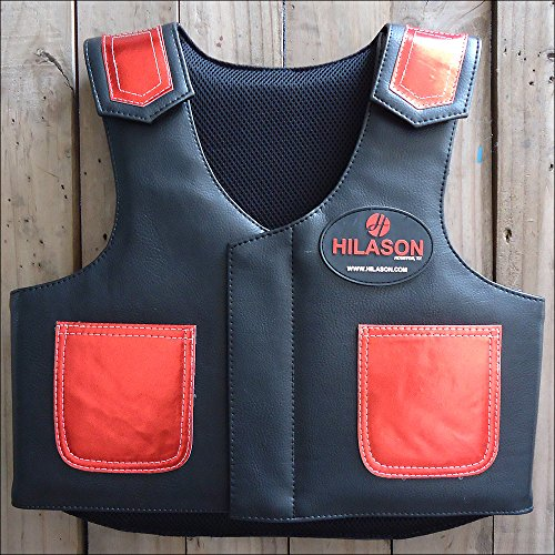 HILASON Kids Junior Youth Bull Riding PRO Rodeo Leather Protective ()