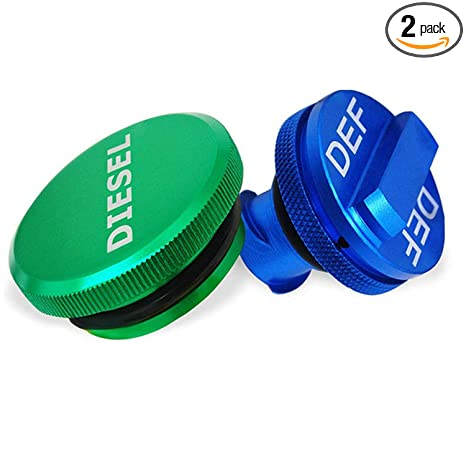 green 2013-2018 Magnetic Diesel Fuel Cap Accessory for Dodge RAM TRUCK 1500 2500 3500 with 6.7 CUMMINS EcoDiesel includes 2 oring sizes