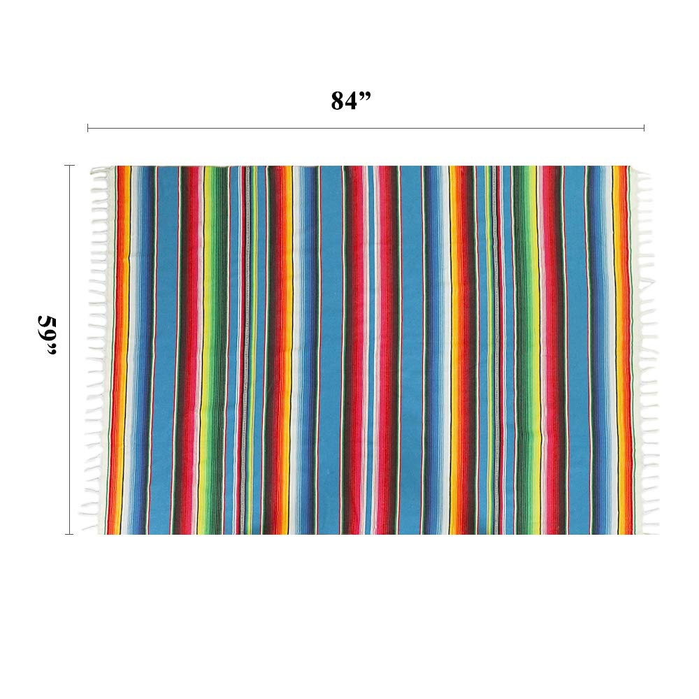 Humorous.P 59×84-Inch Yoga Mat Mexican Serape Blanket for Mexican Wedding Party Decor