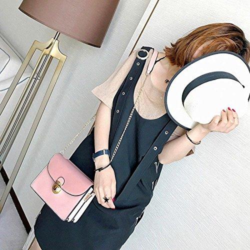 Mujeres Pink Haihuayan Minimalista Negro Bag Bag Bag Crossbody Shoulder Women Bolso Messenger PU Small w88W6nSrOZ