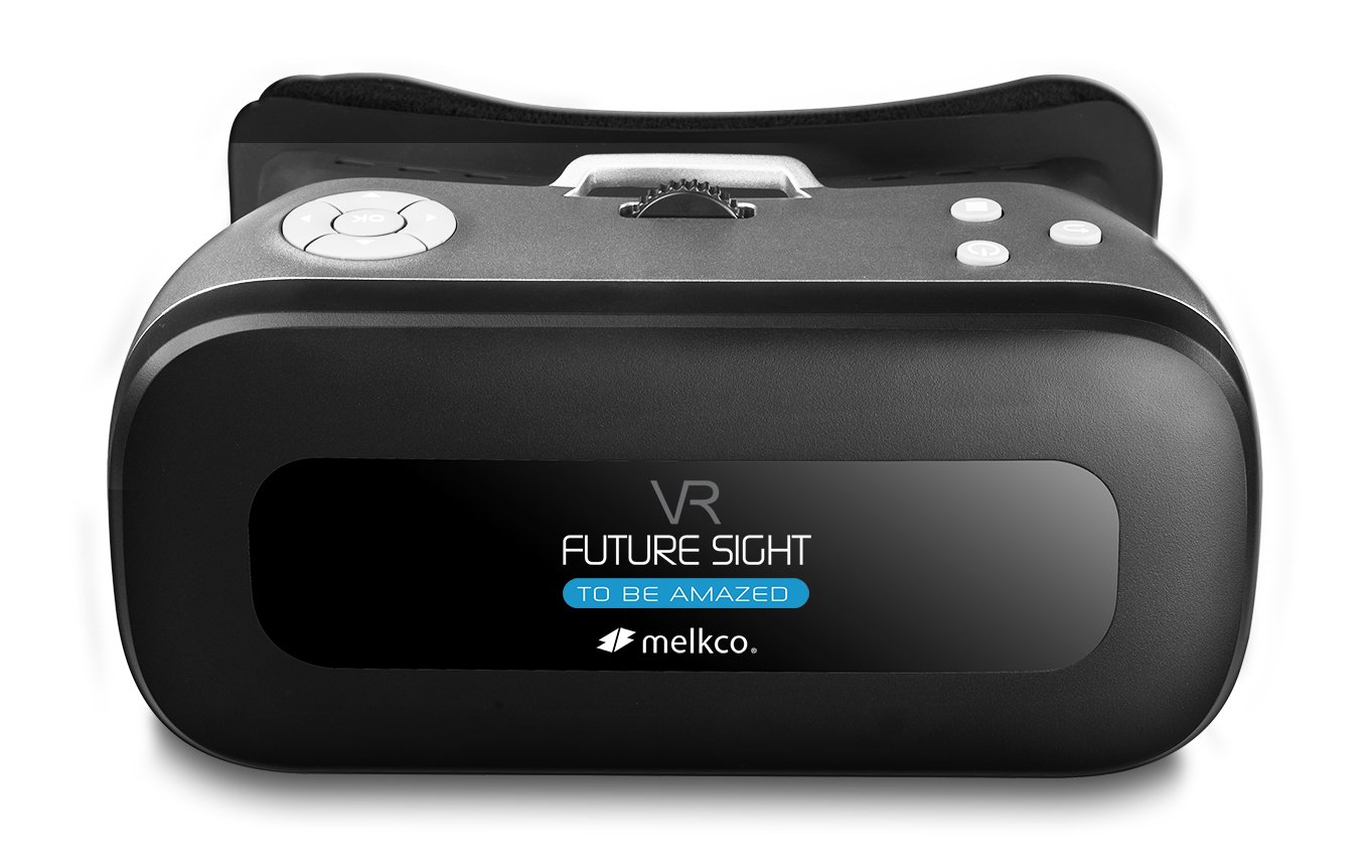 Melkco Future Sight All-in-One VR Set 3D Virtual Reality Headset WiFi 2.4G Bluetooth 1080P 360 Viewing Immersive Supports TF Card for PC Movie Games Youtube Google Play - Grey