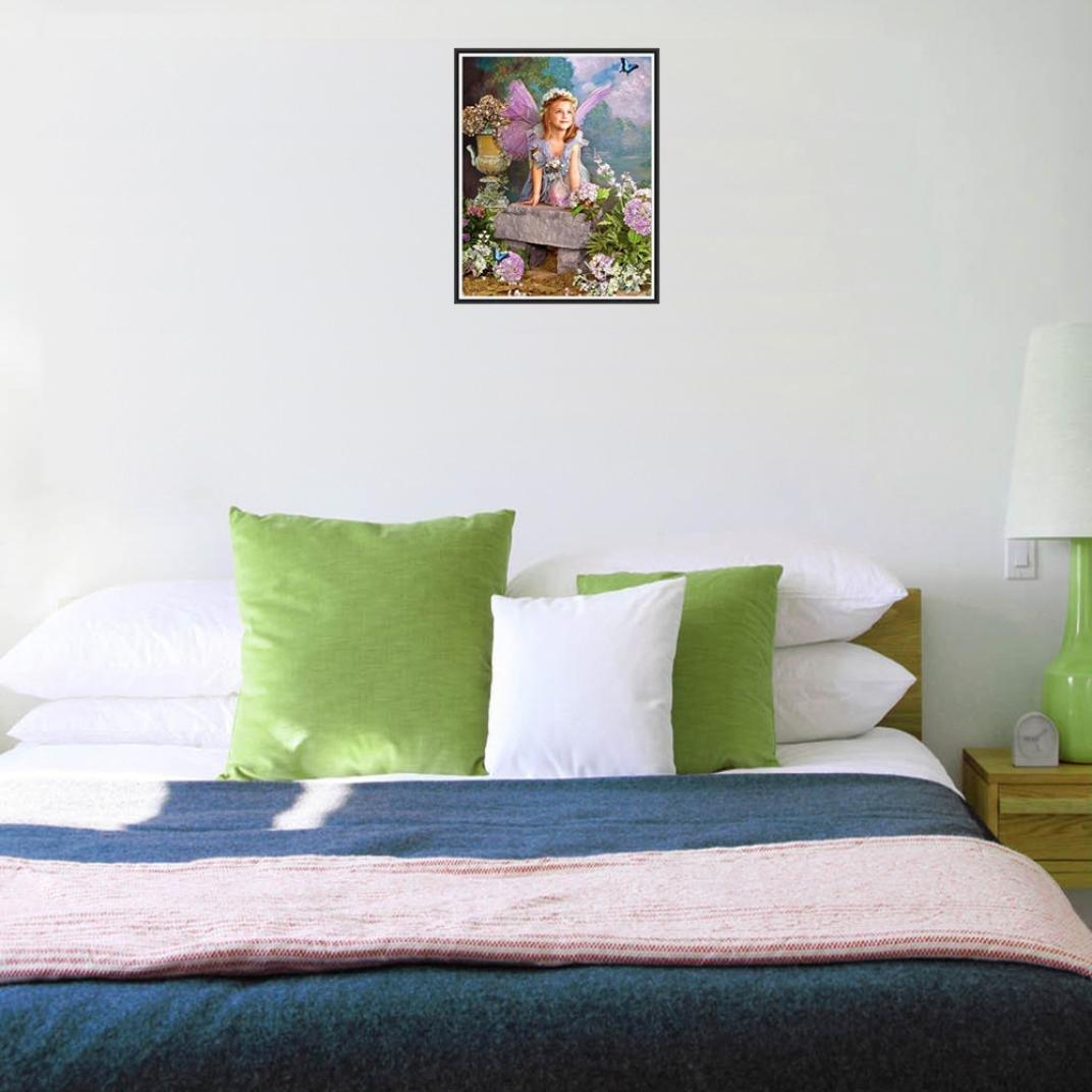 Riou DIY 5D Diamant Painting Voll,Stickerei Malerei Crystal Strass Stickerei Bilder Kunst Handwerk f/ür Home Wand Decor Gem/älde Kreuzstich Prinzessin und Katze Bild Muster