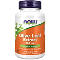 Now Foods Supplements, Olive Leaf Extract 500 mg, Free Radical Scavenger*, 120 Veg...