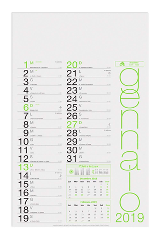 Kalender 2019 Holländischer Wandkalender MultiFarbe FLUO_Fermento Italia B07KCHG9C7    | Haben Wir Lob Von Kunden Gewonnen