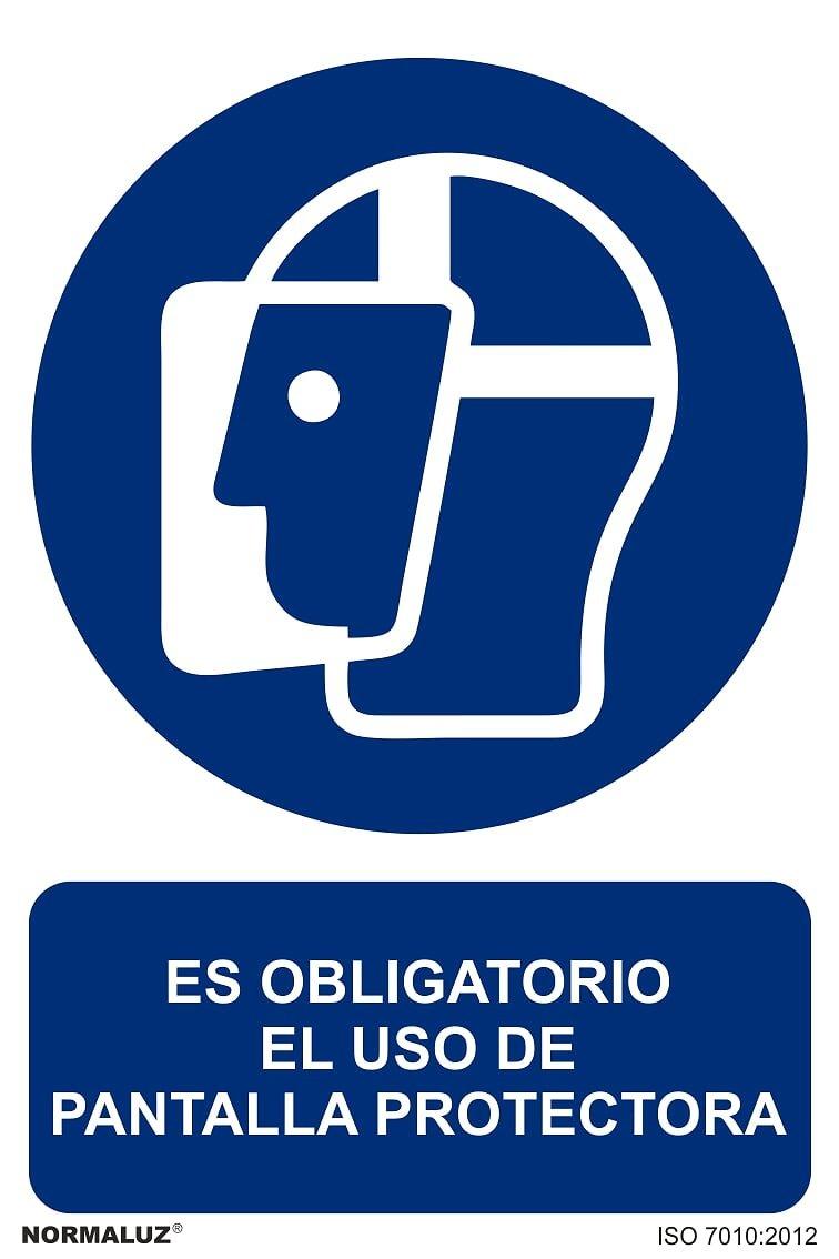 Se/ñal Es Obligatorio El Uso de Pantalla Protectora PVC Glasspack 0,7mm 21x30 cm Normaluz RD20008