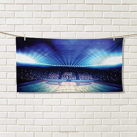 Chaneyhouse - Pelota de Baloncesto, Toalla y Pintura en Fondo Abstracto de Grungy con impresión