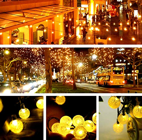 UMISHI Solar String Lights for Outdoor Patio Lawn Landscape Garden Home Wedding Holiday Decorations 19.7feet - 6m - 30LED-Warm White