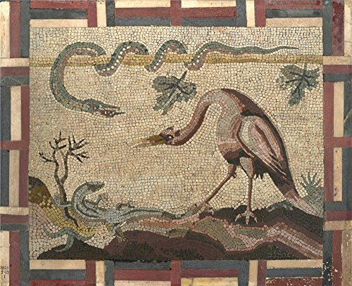 Polyster Canvas ,the Amazing Art Decorative Canvas Prints Of Oil Painting 'Italian Roman Crane Python And Lizard ', 16 X 20 Inch / 41 X 50 Cm Is Best For Dining Room Artwork And Home Artwork And Gifts
