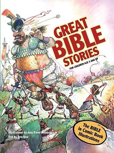 Bible Stories-Comic Bible for Kids-Great Bible Stories-Bible Stories for Children-Adam-Eve-Satan-Serpent-St. Joseph-Samson-Jesus-St. Paul-Bible Story ... for Kids- Elijah-Apostle-Jonah Whale-Moral