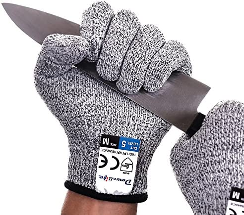 Dowellife Cut Resistant Gloves Food Grade Level 5 Protection, Safety Kitchen Cuts Gloves for Oyster