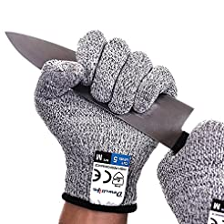 Dowellife Cut Resistant Gloves Food Grad...