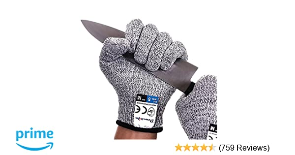 Dowellife Cut Resistant Gloves Food Grade Level 5 Protection, Safety  Kitchen Cuts Gloves for Oyster Shucking, Fish Fillet Processing, Mandolin