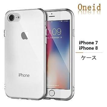 762f5c2a3e iPhone 8 ケース/iPhone 7 ケース Oneid クリア透明 衝撃吸収 保護TPUバンパー ストラップ