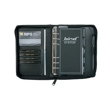 Bind 10100 - Agenda en estuche con cremallera (tamaño A6), color negro