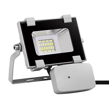 Foco reflector PIR con sensor de movimiento LED de 10W de Viugreum, IP65 a prueba