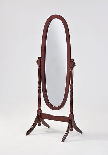 Cherry Cheval Floor Mirror Stand