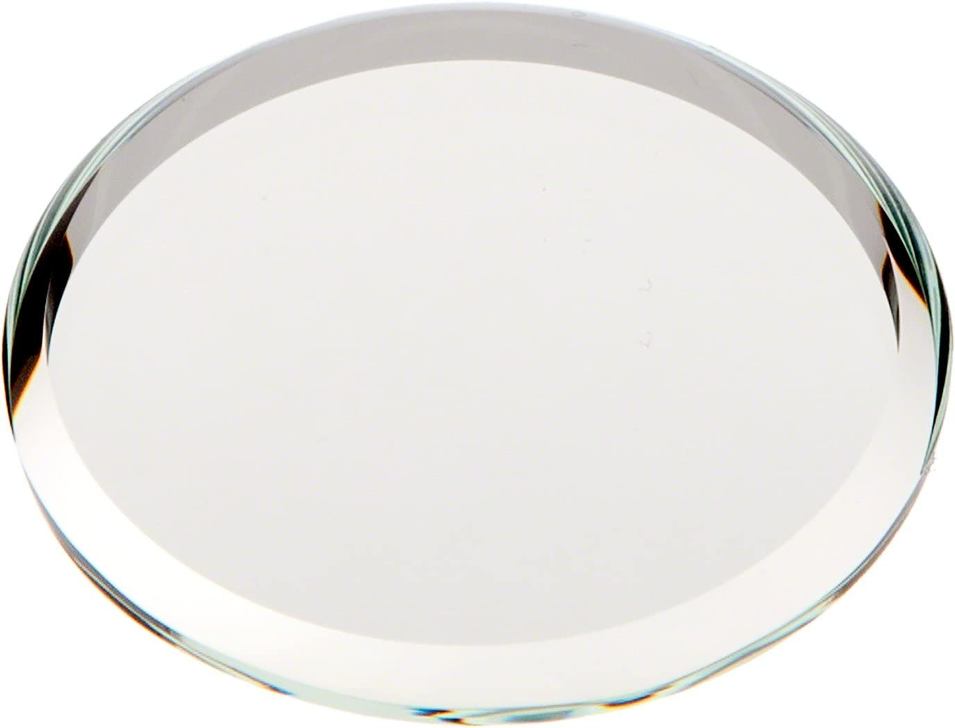 Plymor Round 3mm Beveled Glass Mirror, 1.5 inch x 1.5 inch Pack of 144