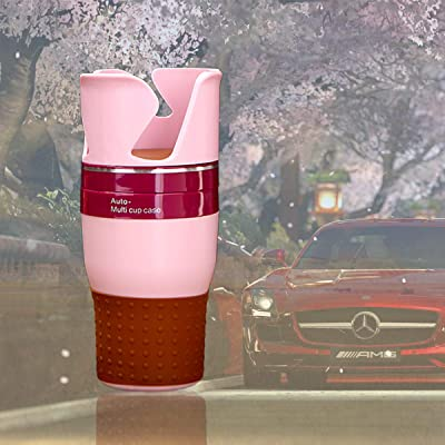 THOUSAND Paper Cranes Car Cup Holder Expander Adapter with 360˚ Adjustable Base, Universal Cup Holder Adapter Hold Most Bottles, Cups and Phone Cup Holder Organizer (Pink): Automotive