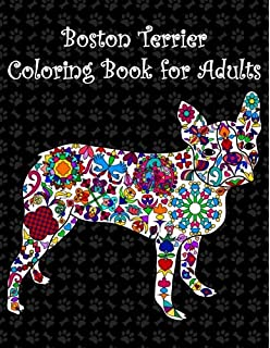 boston terrier coloring book for adults adult coloring book with boston terriers cute puppies - Boston Terrier Coloring Page