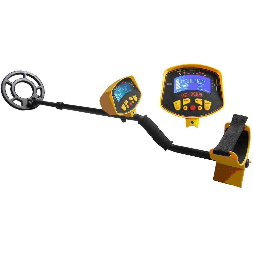 VEVOR MD-3010II Metal Detector Waterproof Deep Sensitive Search with LCD Display Hunter Gold Digger 8''
