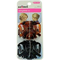 Scunci Hair Clip, Wingless, 2 ct (Pack of 3)