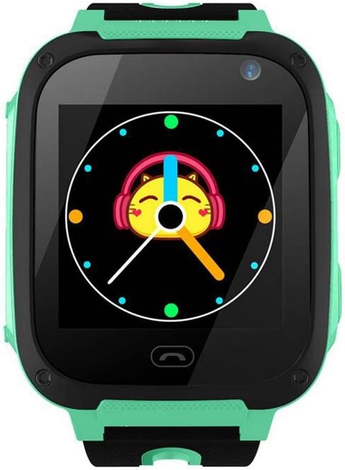 Smart Watch Baby Reloj GPS w/Wifi Pantalla táctil SOS Llamada Ubicación Kid Safe (Green)