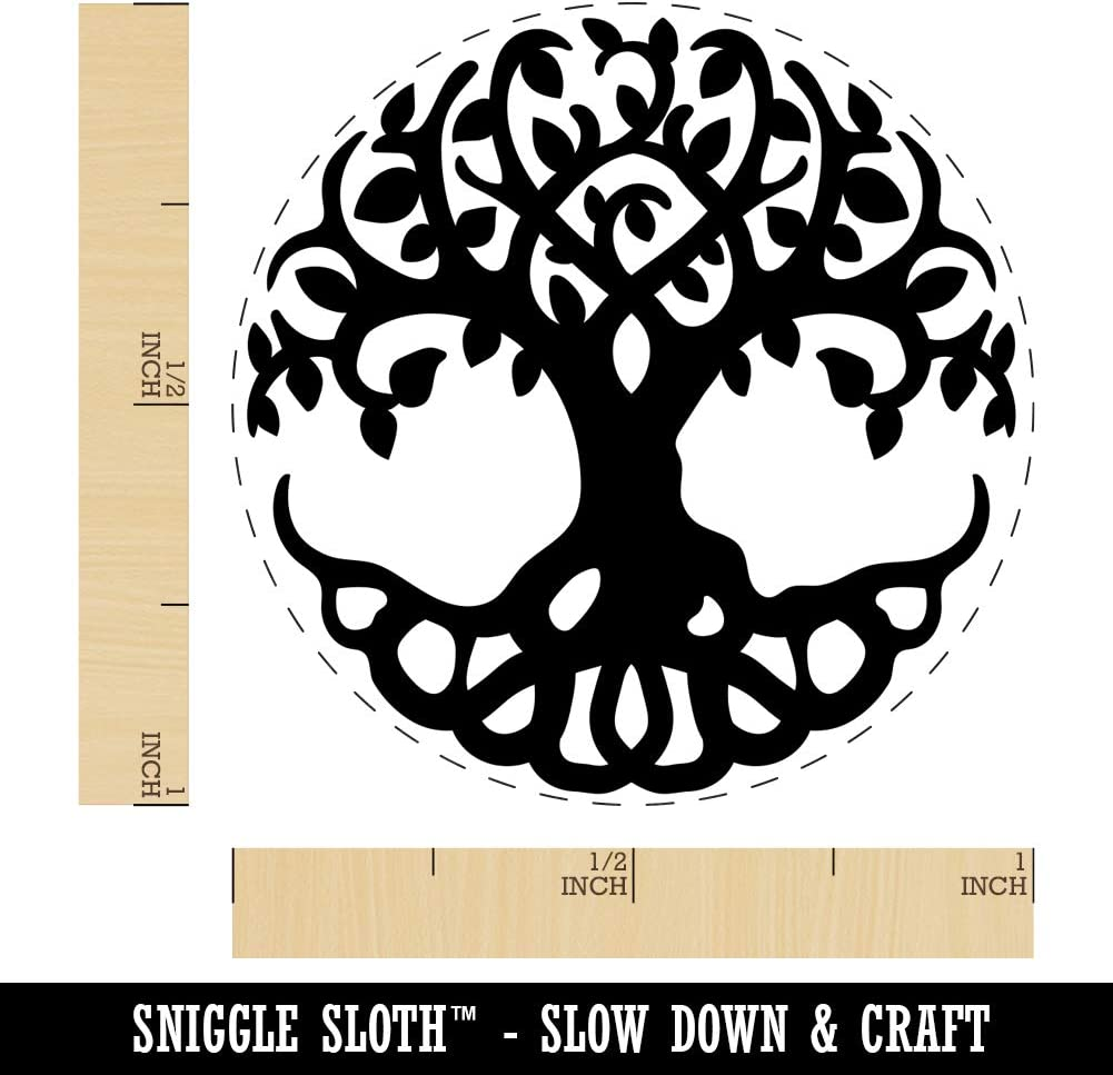 Tree of Life Rubber Stamp for Stamping Crafting Planners 3//4 Inch Small