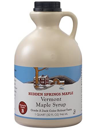 549914be7ca Amazon.com   Hidden Springs 100% Natural Vermont Maple Syrup