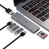 UTASU USB Type C ハブ 8-in-1 マルチUSB-C ハブ Macbook Pro 13/15 インチ 対応 Thunderbolt 3ポート搭載 40Gbps 高速データ転送5K@60Hz/100W PD急速充電/4K HDMI/USB 3.0ポートx3 /SD&MicroSD カードスロット/MacBook Air 2018 MacBook Pro2016/2017/2018に対応