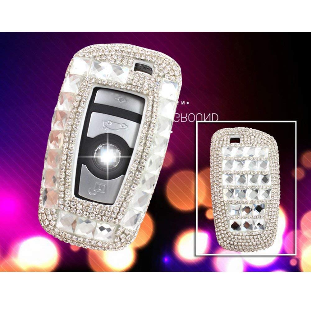 YIKA BMW Diamond key shell Car Key Case Cover Holder Pouch Remote Key Chains Key Bag For BMW keyless remote control Smart Key 1//2//3//4//5//6//M//X SERIES BNW-02