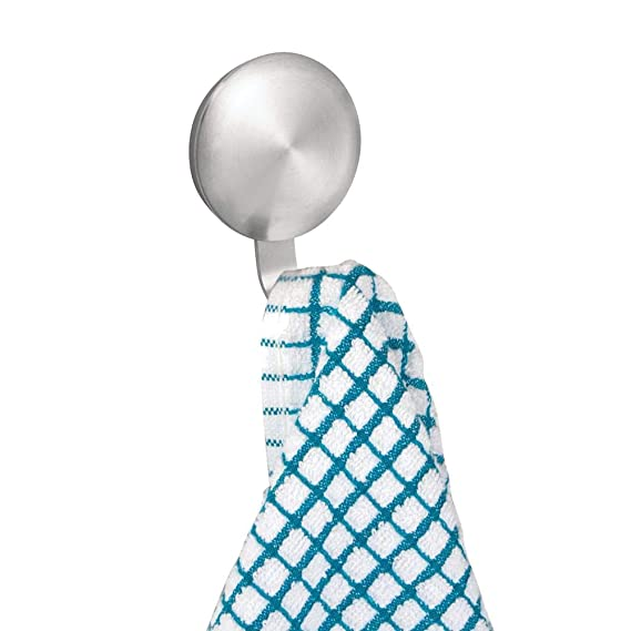 mDesign - Ganchos para colgar toallas autoadhesivos - Colgadores de pared para baño - Toallero sin taladro - Set de 4 piezas - Perfectos para toallas, ...