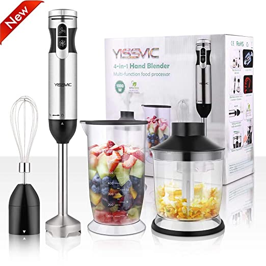 Amazon.com: YiSSVIC Batidora de mano 1000 W 700 ml Batidora ...