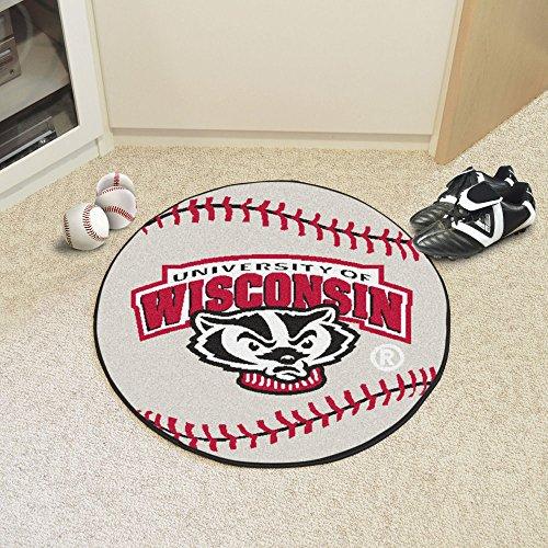 Logo University of Wisconsin Baseball Mat (Wisconsin Badgers Door Mat Rug)