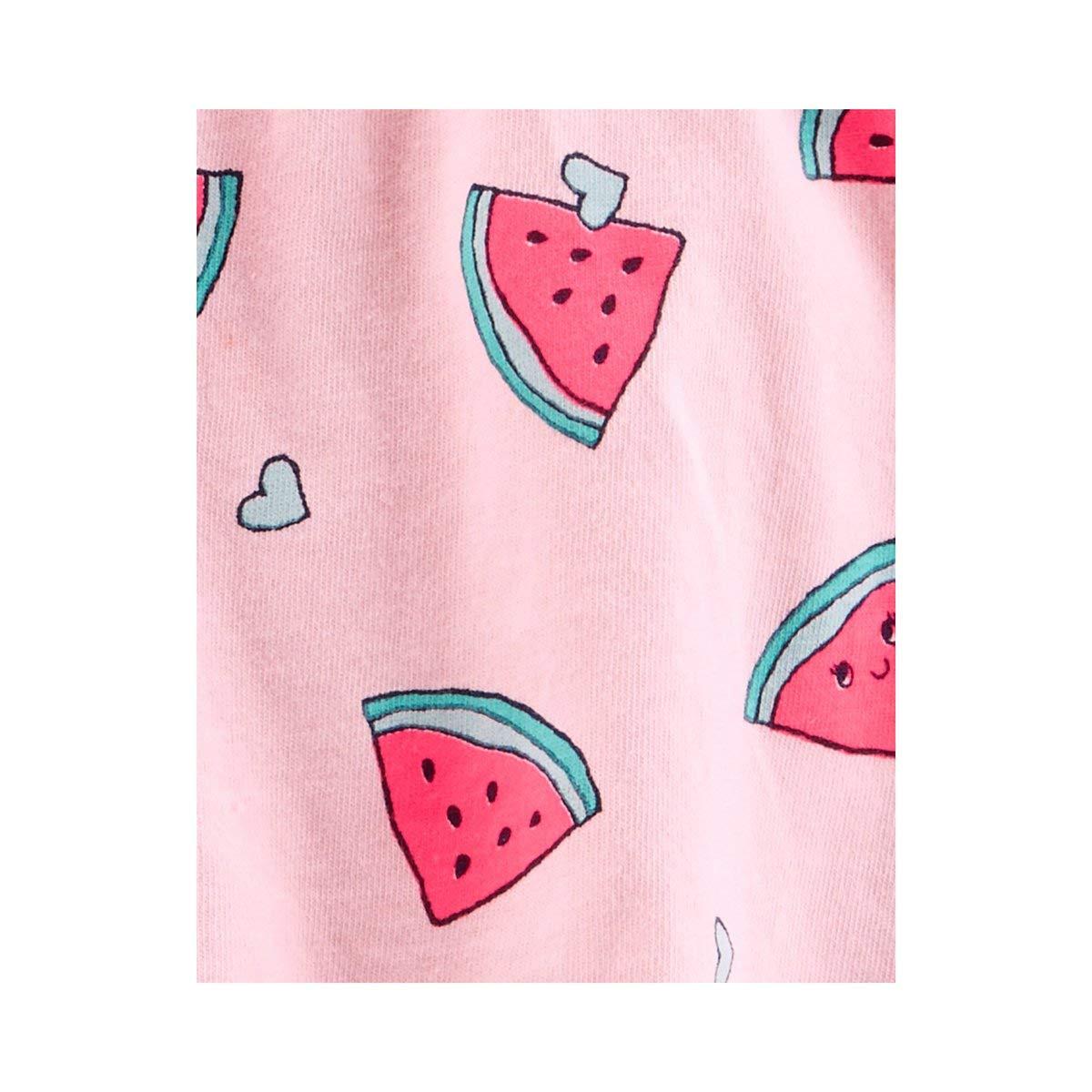 Carters Baby Girls Cotton Watermelon Sunsuit Pink Multi 24 Months
