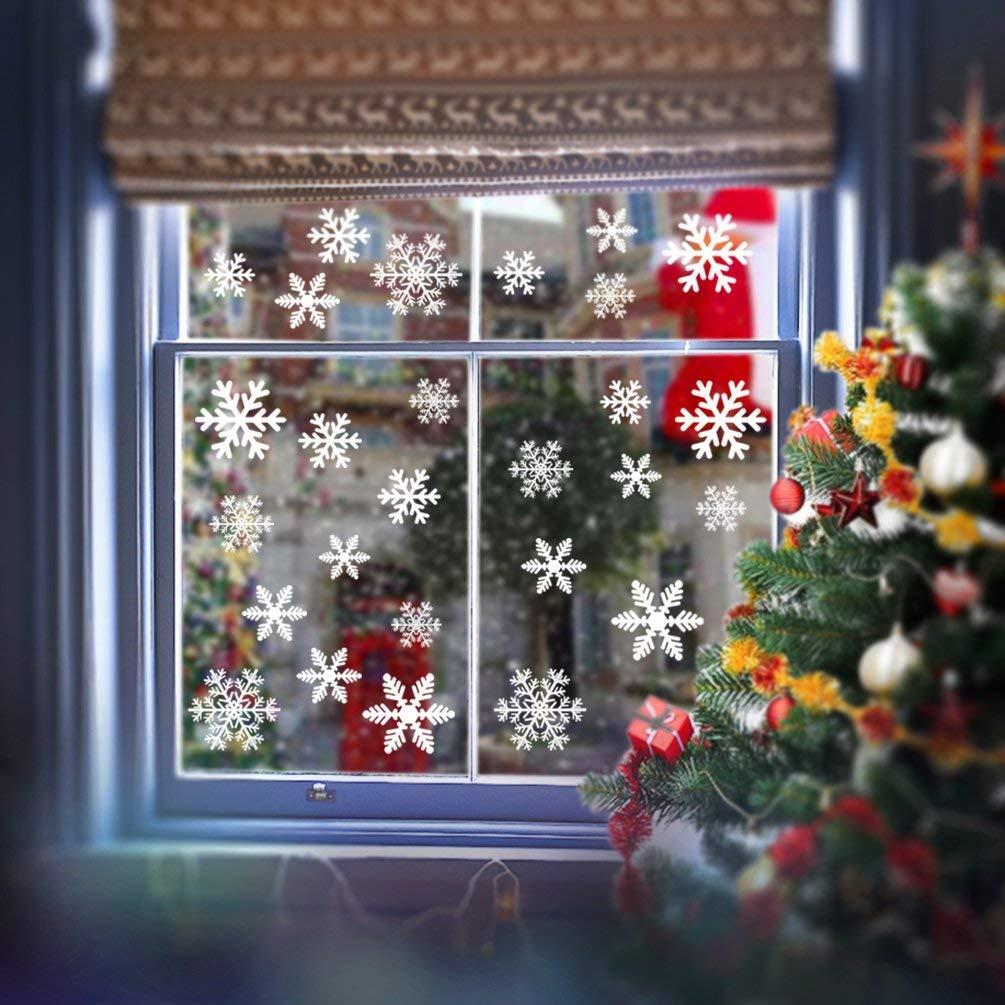 begleri 108 Fensterbilder für Weihnachten,Schneeflocken Fensterbild ...