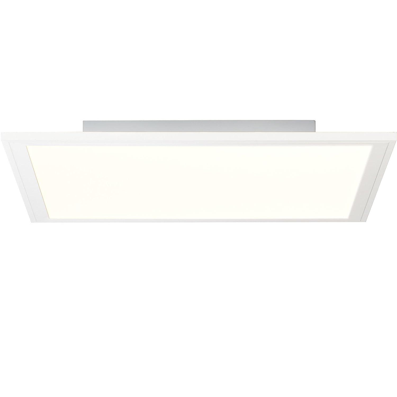 LED Panel Deckenleuchte 40x40cm, RGB Farbwechsel, Fernbedienung, 1x 24W LED integriert, 1x 2400 Lumen, 2700-6500K, Metall Kunststoff, weiß