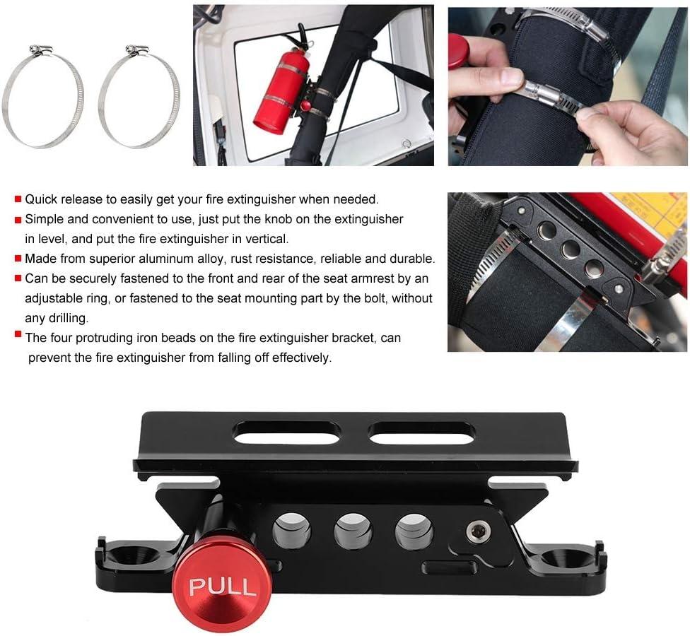 Support de montage dextincteur r/églable en alliage daluminium modifi/é pour voiture en alliage daluminium Support dextincteur Outbit